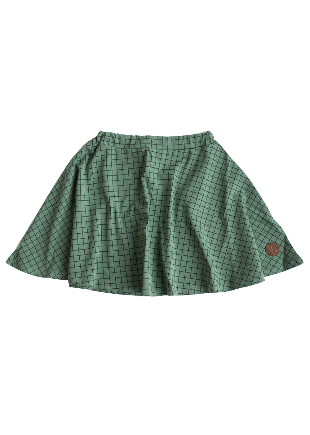 Caltra Skirt, Grid Green